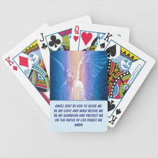 Naipes del ángel de guarda baraja de cartas