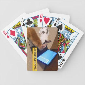 ¡Naipes del App TV del chiste! Baraja De Cartas