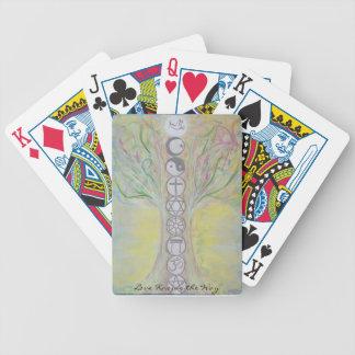 Naipes del árbol de la unidad - el amor sabe la baraja de cartas