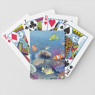 Naipes del arrecife de coral barajas de cartas