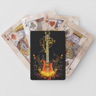 Naipes del arte 1 de la guitarra barajas de cartas
