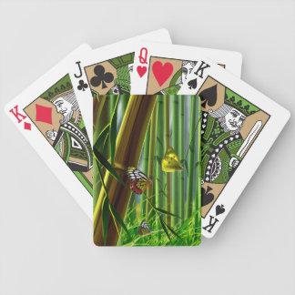 Naipes del arte 1 del bambú y de la mariposa barajas de cartas