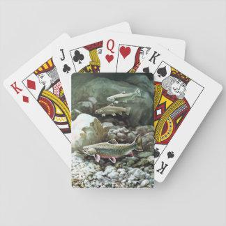 Naipes del arte de los pescados barajas de cartas