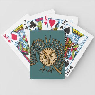 Naipes del arte del búho de BW Baraja Cartas De Poker