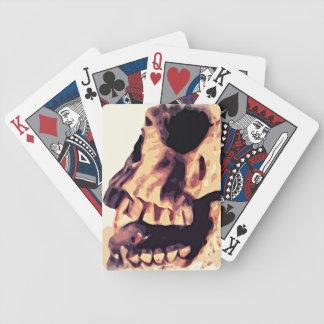 Naipes del arte del cráneo barajas de cartas