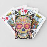 Naipes del arte del cráneo del azúcar cartas de juego