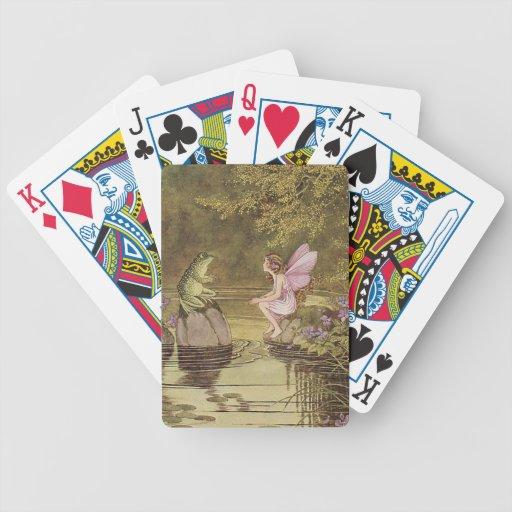 naipes del arte del estilo del vintage cartas de juego