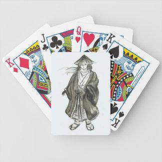 Naipes del arte del samurai del lobo solitario baraja de cartas