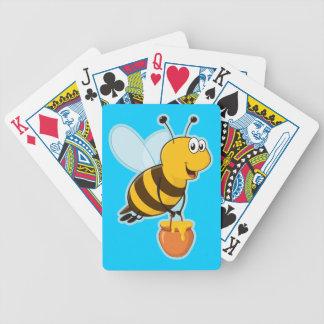 Naipes del azul de la abeja de la miel cartas de juego