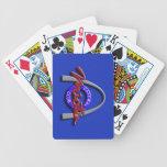 Naipes (del azul real) barajas de cartas