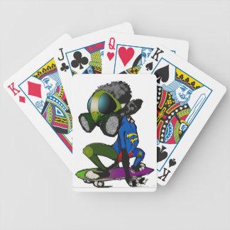Naipes del babuino del monopatín cartas de juego