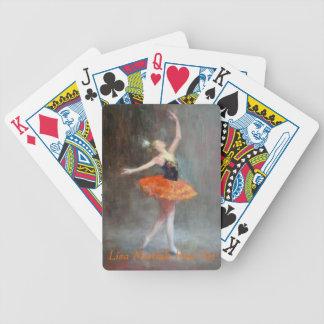 Naipes del ballet cartas de juego
