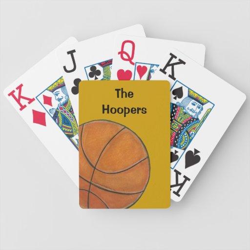 Naipes del baloncesto barajas de cartas