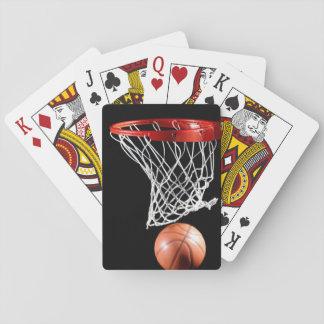 Naipes del baloncesto, caras estándar del índice barajas de cartas