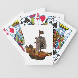 Naipes del barco pirata baraja cartas de poker