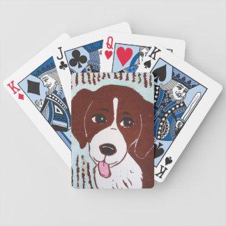 Naipes del beagle baraja de cartas