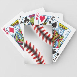 Naipes del béisbol baraja cartas de poker