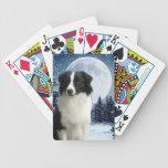 Naipes del border collie baraja cartas de poker