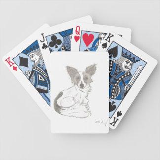 Naipes del bosquejo de Papillon Baraja Cartas De Poker