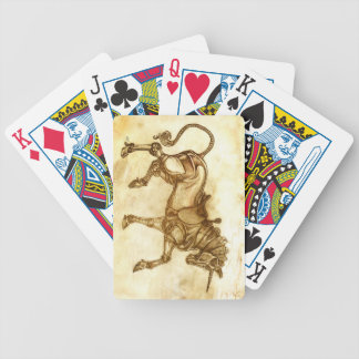 Naipes del bosquejo del unicornio de Steampunk Baraja Cartas De Poker