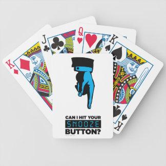 Naipes del botón de la cabezada cartas de juego
