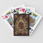 Naipes del brocado de la castaña cartas de juego