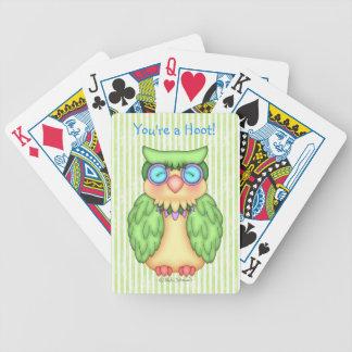 Naipes del búho de BaZooples Baraja Cartas De Poker