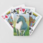 Naipes del caballo blanco baraja de cartas