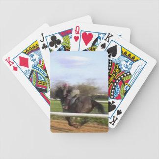 Naipes del caballo de carreras barajas de cartas