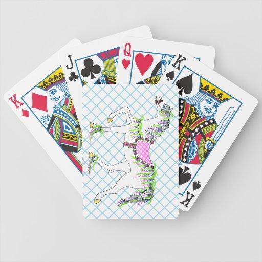 Naipes del caballo del carrusel baraja de cartas
