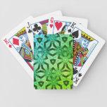 Naipes del caleidoscopio cartas de juego