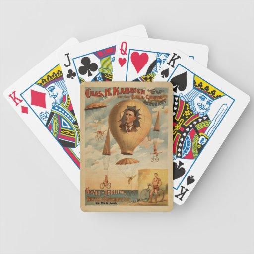 Naipes del canal inclinado de la bicicleta cartas de juego