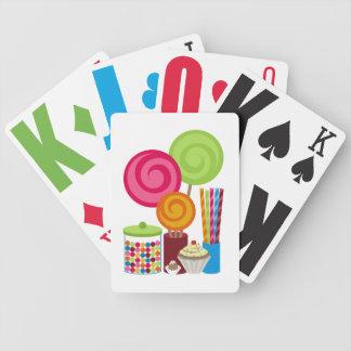 Naipes del caramelo y de los dulces baraja cartas de poker