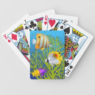 Naipes del Caribe de los pescados del arrecife de  Baraja Cartas De Poker