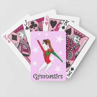 Naipes del chica de la gimnasia baraja cartas de poker