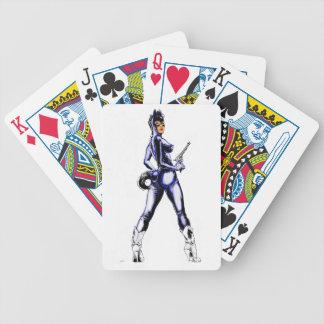 naipes del chica del potro baraja cartas de poker