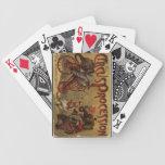 Naipes del circo cartas de juego