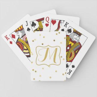 Naipes del clavo de la polca del punto del confeti barajas de cartas
