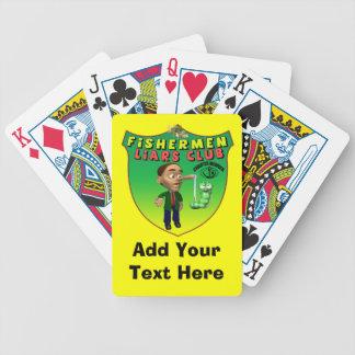 Naipes del club de los mentirosos de los pescadore cartas de juego