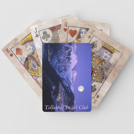 Naipes del club social del telururo baraja cartas de poker