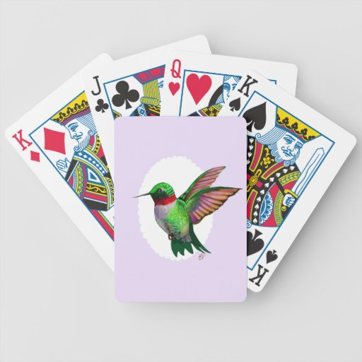 Naipes del colibrí baraja de cartas