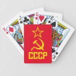 Naipes del comunista de CCCP