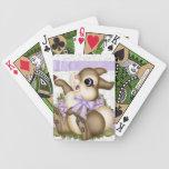 Naipes del conejito de la lila baraja