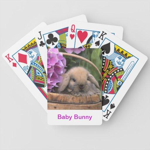 Naipes del conejo de conejito del bebé barajas de cartas