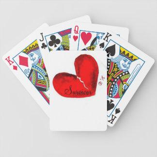 Naipes del corazón quebrado barajas de cartas