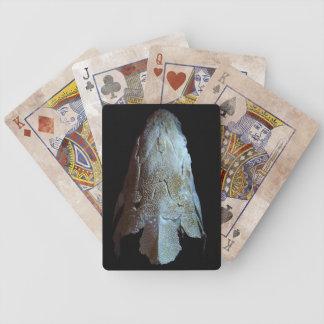Naipes del cráneo del esturión cartas de juego
