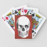Naipes del cráneo (rojos) cartas de juego