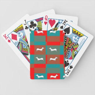 Naipes del Dachshund Baraja Cartas De Poker