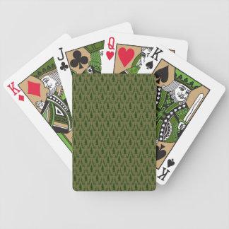 Naipes del damasco del árbol de pino baraja cartas de poker
