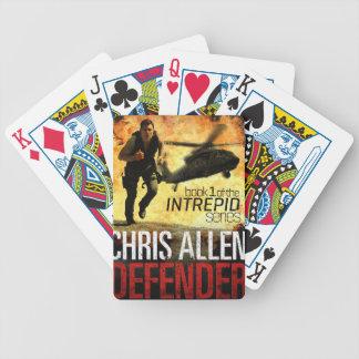 Naipes del defensor cartas de juego